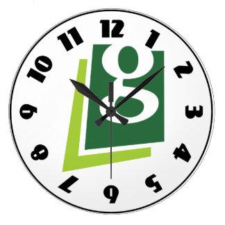 Klok de in kleine letters van G