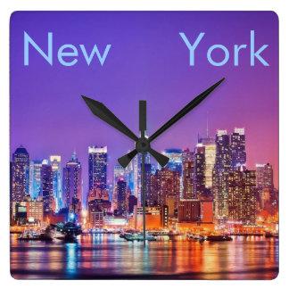Klok van de Muur van de Stad van New York de Vierk