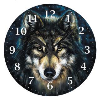 Klok van de Muur van de wolf de Decoratieve