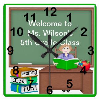 Klok van de Muur van het Schoolbord van de leraar