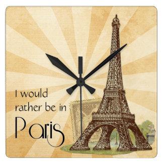 Klok van de Muur van Parijs de Vierkante
