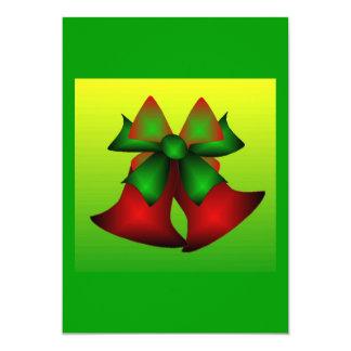 Klokken I van Kerstmis 12,7x17,8 Uitnodiging Kaart