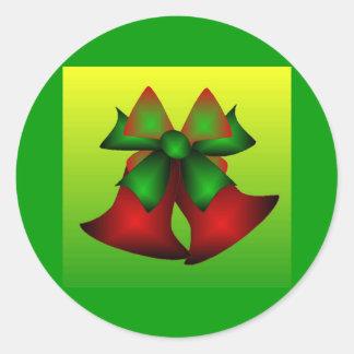Klokken I van Kerstmis Ronde Stickers