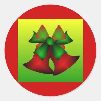 Klokken II van Kerstmis Ronde Stickers
