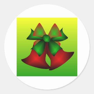 Klokken III van Kerstmis Ronde Stickers