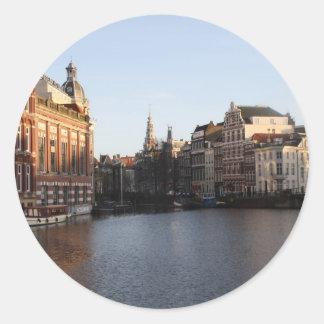 Kloveniersburgwal, Amsterdam Ronde Sticker