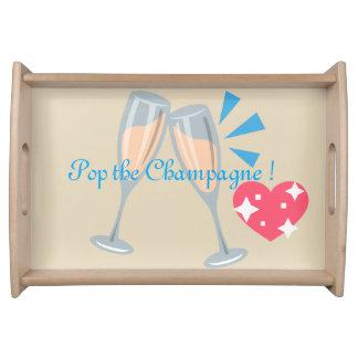 Knal Champagne Dienblad