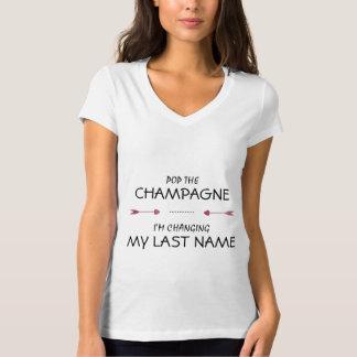 Knal CHAMPAGNE ik MIJN FAMILIENAAM verander T Shirt