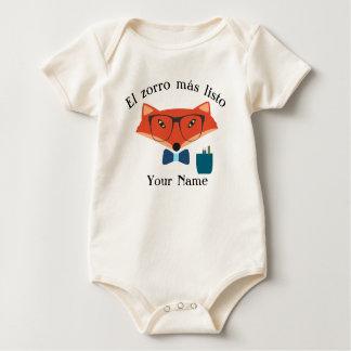 Knappe Bodysuit van het Baby van de Taal van de
