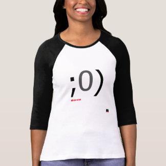 Knipoog knipogen Emoticon 3/4 lengtesleeve T Shirt