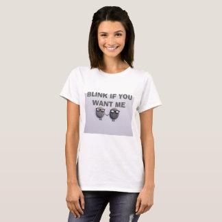 Knipoogje als u me t-shirt wilt