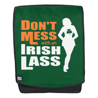 Knoei niet met een Ierse Grappige Lass Rugtassen