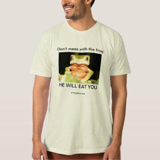 Knoei niet met het kikkeroverhemd t shirt