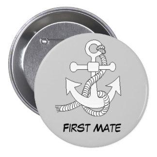 Knoop - het anker van Schepen Ronde Button 7,6 Cm