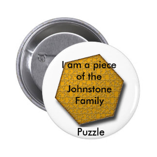 Knoop - ik ben een stuk van het raadsel van de ronde button 5,7 cm