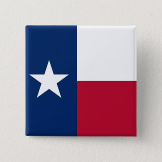 Knoop met Vlag van Texas Vierkante Button 5,1 Cm