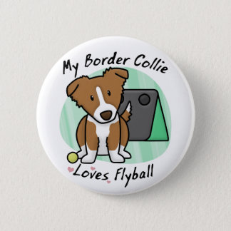 Knoop van Border collie Flyball van Kawaii de Ronde Button 5,7 Cm