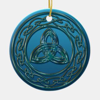 Knoop van de Drievuldigheid van het antiek Metaal Rond Keramisch Ornament