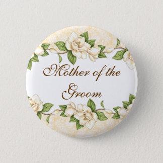 Knoop van de Partij van het Damast van de magnolia Ronde Button 5,7 Cm