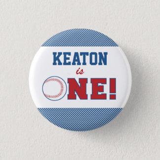 Knoop van de Verjaardag van het honkbal de Eerste Ronde Button 3,2 Cm