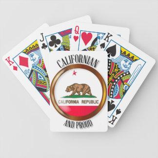 Knoop van de Vlag van Californië de Trotse Bicycle Speelkaarten