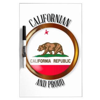 Knoop van de Vlag van Californië de Trotse Whiteboard