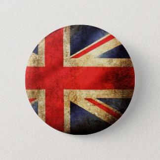 Knoop van de Vlag van Grunge de Britse Ronde Button 5,7 Cm