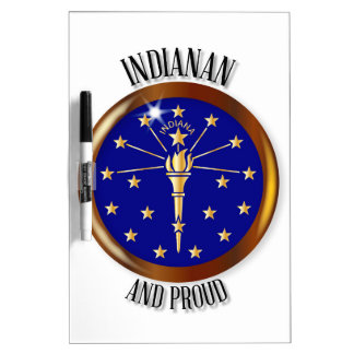 Knoop van de Vlag van Indiana de Trotse Whiteboard