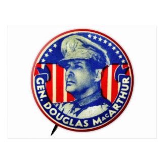 Knoop van Douglas MacArthur van de vintage Kitsch Briefkaart