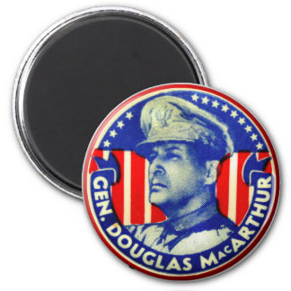 Knoop van Douglas MacArthur van de vintage Kitsch Magneet