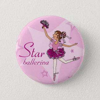 Knoop van het de ballerina de roze meisje van de ronde button 5,7 cm