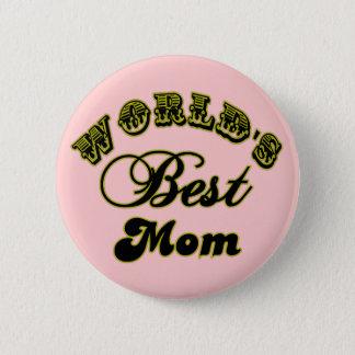 Knoop van het Mamma van de wereld de Beste en de Ronde Button 5,7 Cm