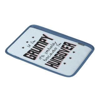 KNORRIG omdat HUNGOVER (blk) Beschermhoes Voor MacBook Air