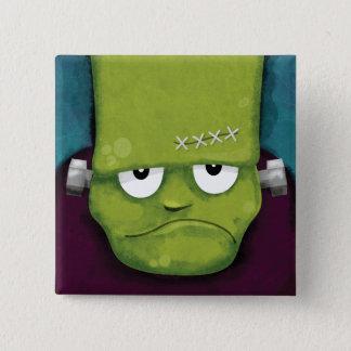 Knorrige Frankenstein | Nieuwigheid van Halloween Vierkante Button 5,1 Cm