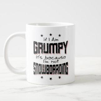 KNORRIGE niet SNOWBOARDING (blk) Grote Koffiekop