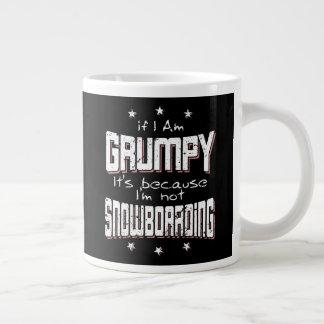 KNORRIGE niet SNOWBOARDING (wht) Grote Koffiekop