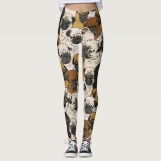 Knorrige Pugs/het Grappige Leuke Pug Patroon van Leggings