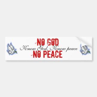 Know/No Vrede Bumpersticker