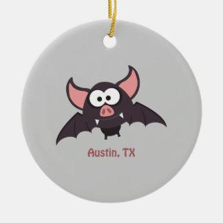 Knuppel - Austin, Texas Rond Keramisch Ornament