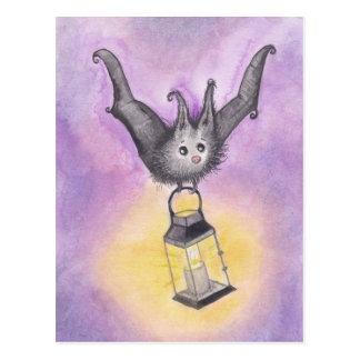 Knuppel die een Lantaarn houden Briefkaart