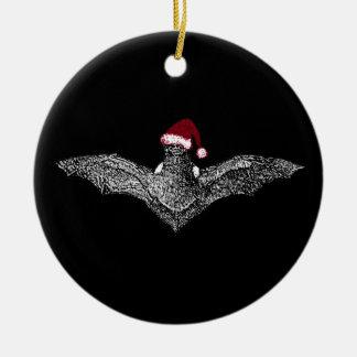 Knuppel in een Pet van de Kerstman Rond Keramisch Ornament