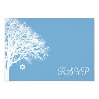 Knuppel Mitzvah RSVP van de Boom van de winter de Kaart
