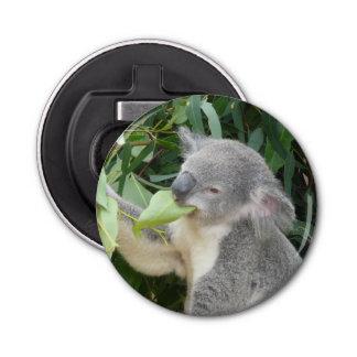 Koala die het Blad van de Gom eten Button Flesopener