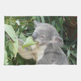 Koala die het Blad van de Gom eten Theedoek