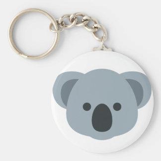 Koala emoji basic ronde button sleutelhanger