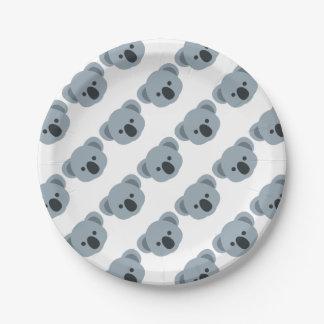 Koala emoji papieren bordje