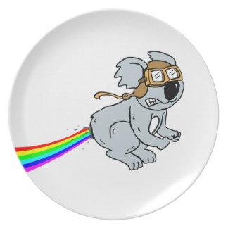 Koala met regenboog melamine+bord