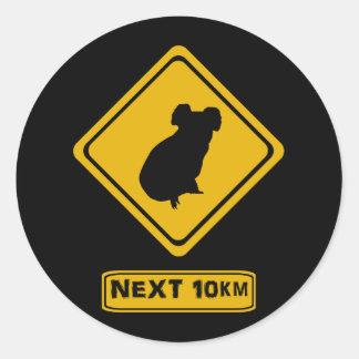 koala verkeersteken ronde sticker