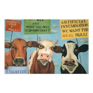 Koeien op Staking Briefpapier