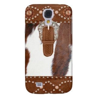 """Koeienhuid en Leer"" Westerne IPhone 3 Hoesje"